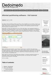 GParted partitioning software - Full tutorial.pdf