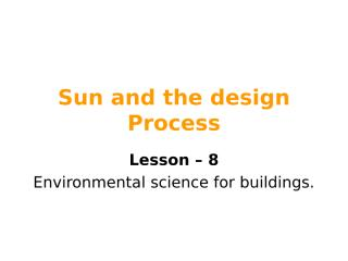(2) Sun and the design Process 8.ppt