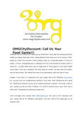 OMGCityDiscount Call Us Your Food Santa!!!.pptx
