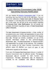Latest Haryana Government Jobs 2018.pdf