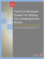Fresh Cut Wholesale Flowers For Making Your Wedding Events Blissful.pdf
