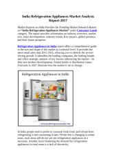 India Refrigeration Appliances Market.docx