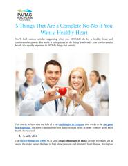 5 Things That Are A Complete No-No If You Want A Healthy Heart.docx